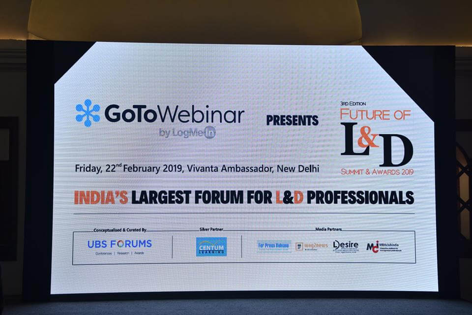3rd Edition Future Of Learning & Developnment Summit and Awards(Delhi)